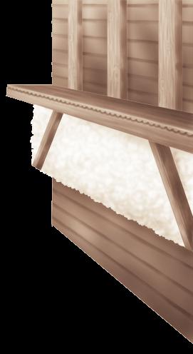 Внутренняя стена шале