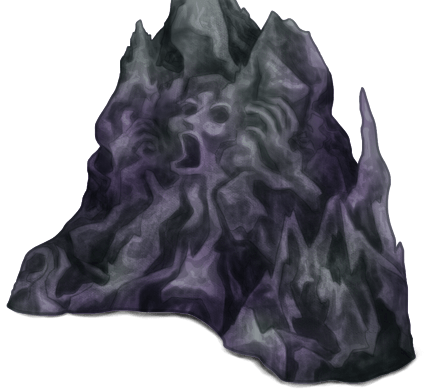 Мрачный подземный настенный камень