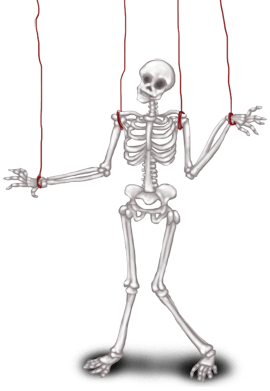Темный лабораторный скелет