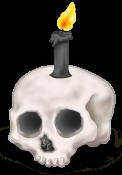 Свеча Череп Хэллоуина