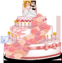 Гигантский свадебный торт