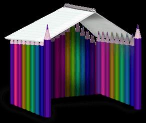 Карандашный домик