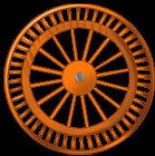 Оранжевый фон колесо