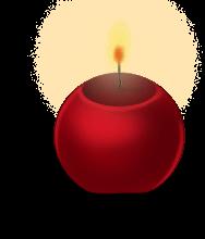 Круглая свеча