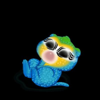 Принять хорек Голубая ара
