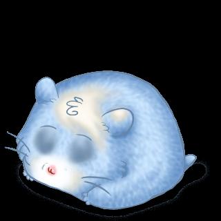 Принять хомяк Пастельно-синий