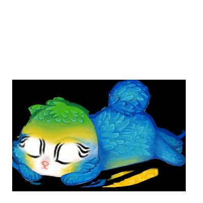 Принять кролик Голубая ара