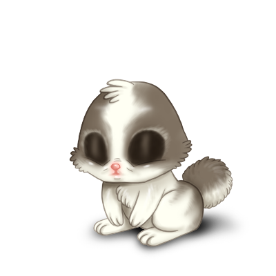 Принять кролик Белый и серый