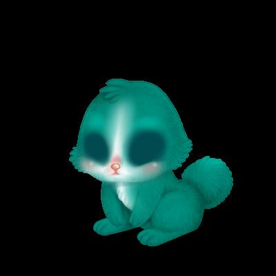 Принять кролик бирюзовый