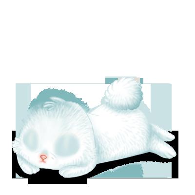 Принять кролик снег