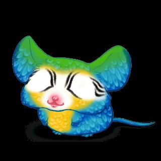 Принять мышь Голубая ара