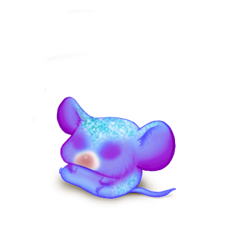 Принять мышь неон