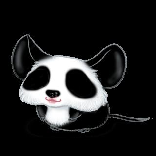 Принять мышь панда
