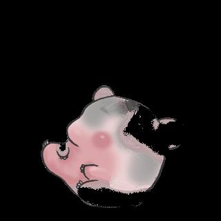 Принять Hamster Черный и белый